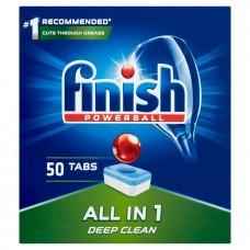 Таблетки для посудомоечных машин Finish All in One Regular(50шт)