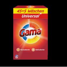 Стиральный порошок GAMA 3 в 1 Универсал 1.17 кг - 8,47 кг