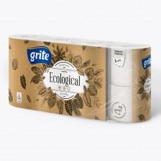 Туалетная бумага Grite Ecological 3 слоя (8рул)