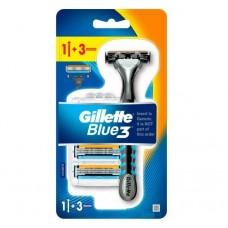 Бритвенный станок Gillette Blue 3 (+ 3 кассеты)