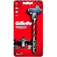 Бритвенный станок Gillette Mach3 Turbo (+ 1 кассета)