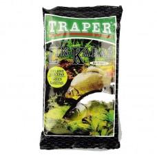 Прикормка Traper Sekret Lin–Karaś zielony marcepan 1кг (линь-карась, зеленый марципан)