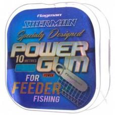 Фидергам (амортизатор) для фидера Flagman Sherman Feeder Gum 0.80 мм 10 м прозрачный