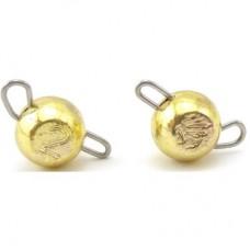 Груз-головка вольфрам Select цвет золото 3.5 грамм(5шт)